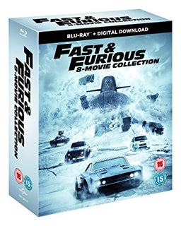 Fast & Furious 8-Film Collection (1-8 Boxset) BD + digital download [Blu-ray] [2017] [Region Free]