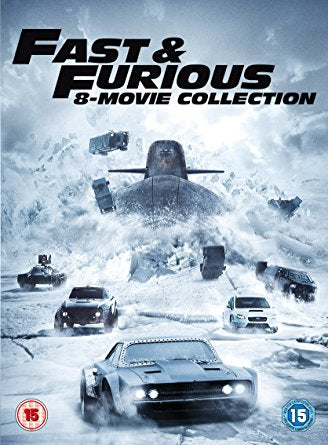 Fast & Furious 8-Film Collection DVD (1-8 Box Set) + digital download [2017]