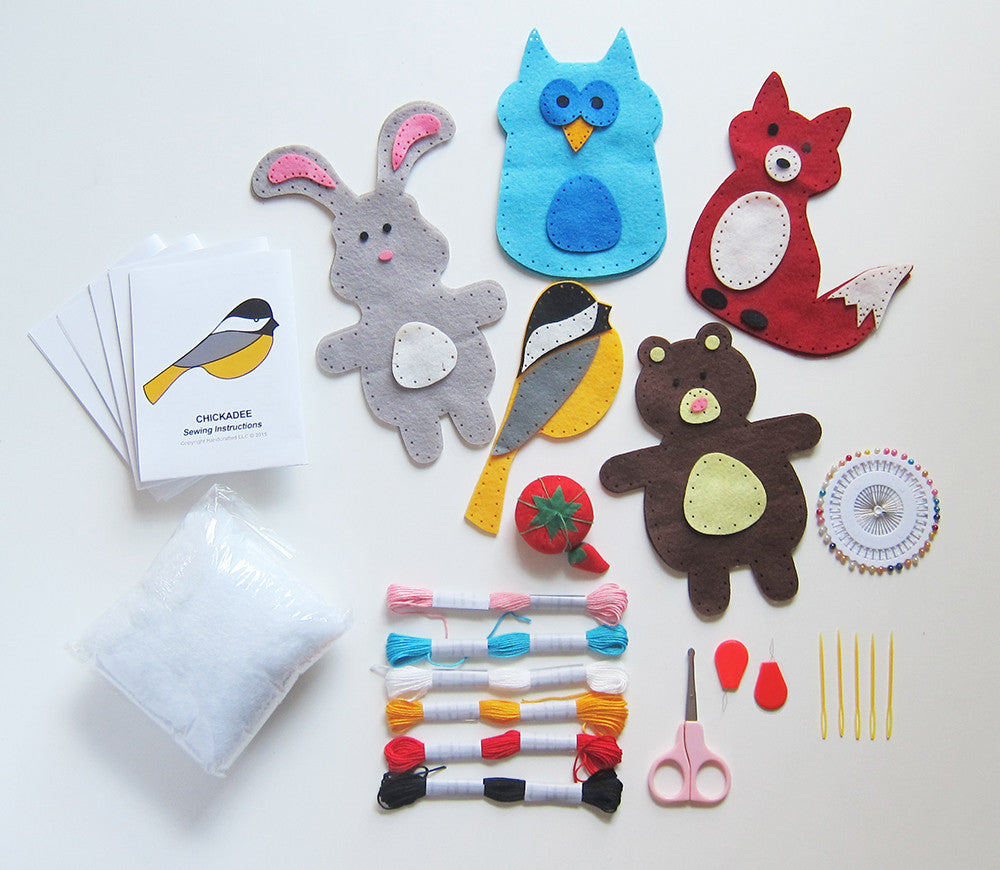 Craftlab Woodland Animals Sewing Craft Kit For Kids 7 To
