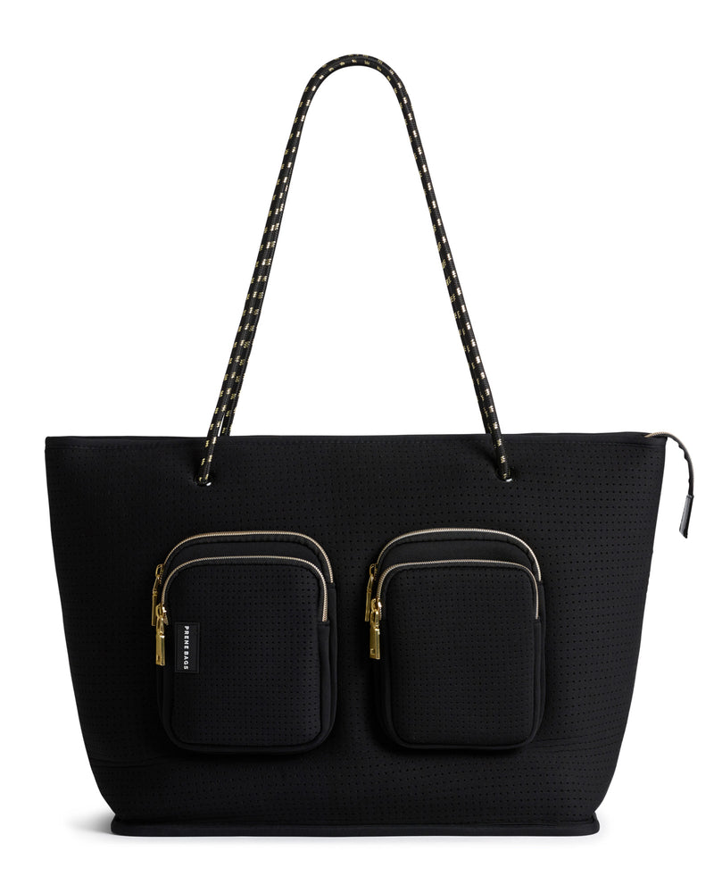 The Bec Bag - Rebecca Judd x Prene (BLACK / GOLD) Neoprene Tote Bag