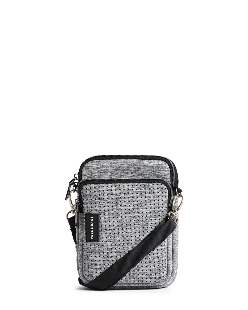The Mimi Bag (LIGHT GREY MARLE) Neoprene Crossbody Bag