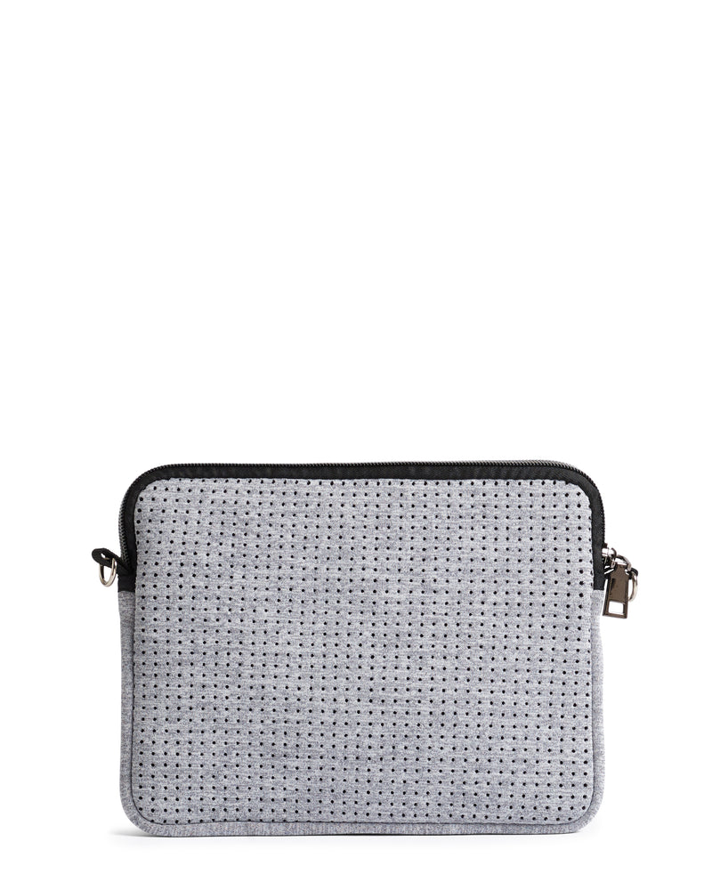 The Pixie Bag (LIGHT GREY MARLE) Neoprene Crossbody Bag