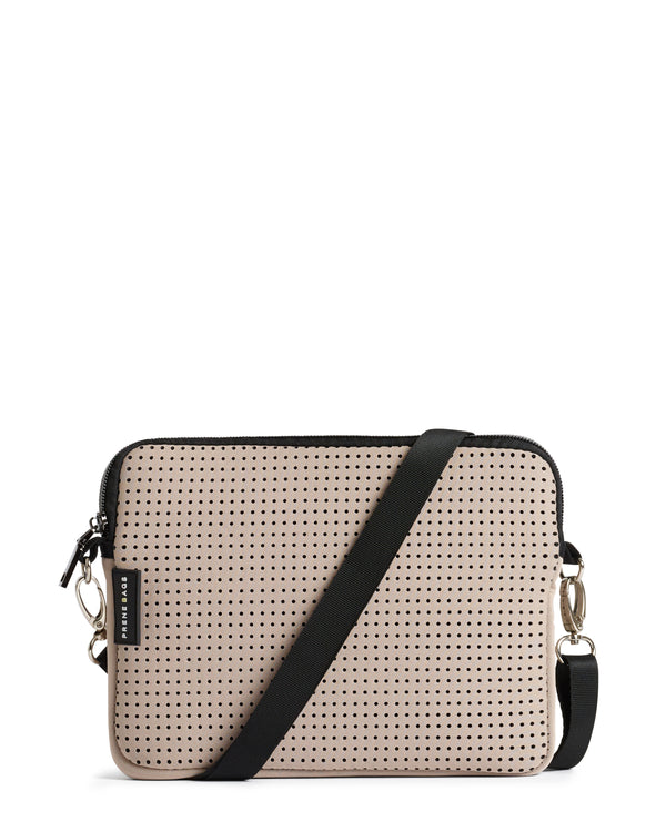 The Pixie Bag (SAND/BEIGE) Neoprene Crossbody Bag