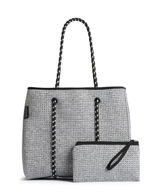 The Portsea Bag (LIGHT GREY MARLE) Neoprene Tote Bag