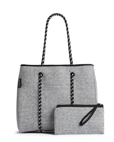 The Sunday Bag (LIGHT GREY MARLE) Neoprene Tote / Baby / Travel Bag