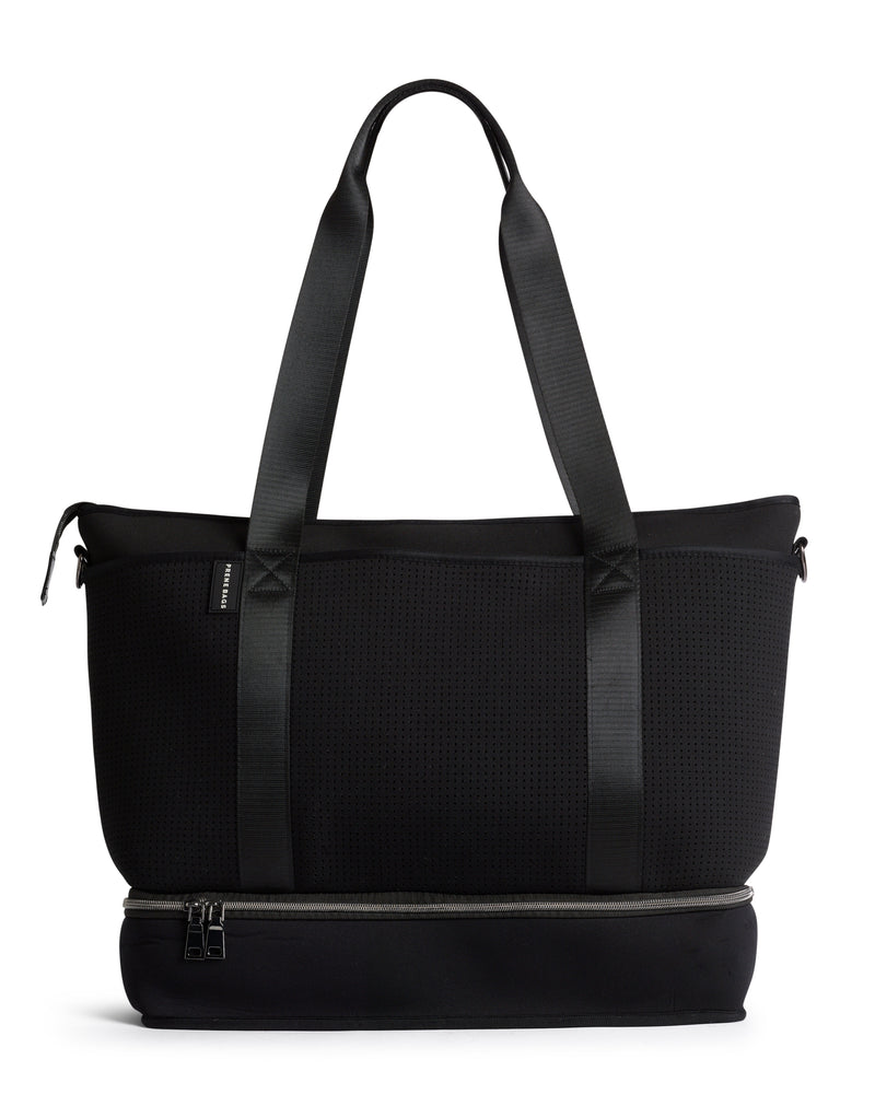 The Saturday Bag (BLACK) Neoprene Tote / Baby / Travel Bag
