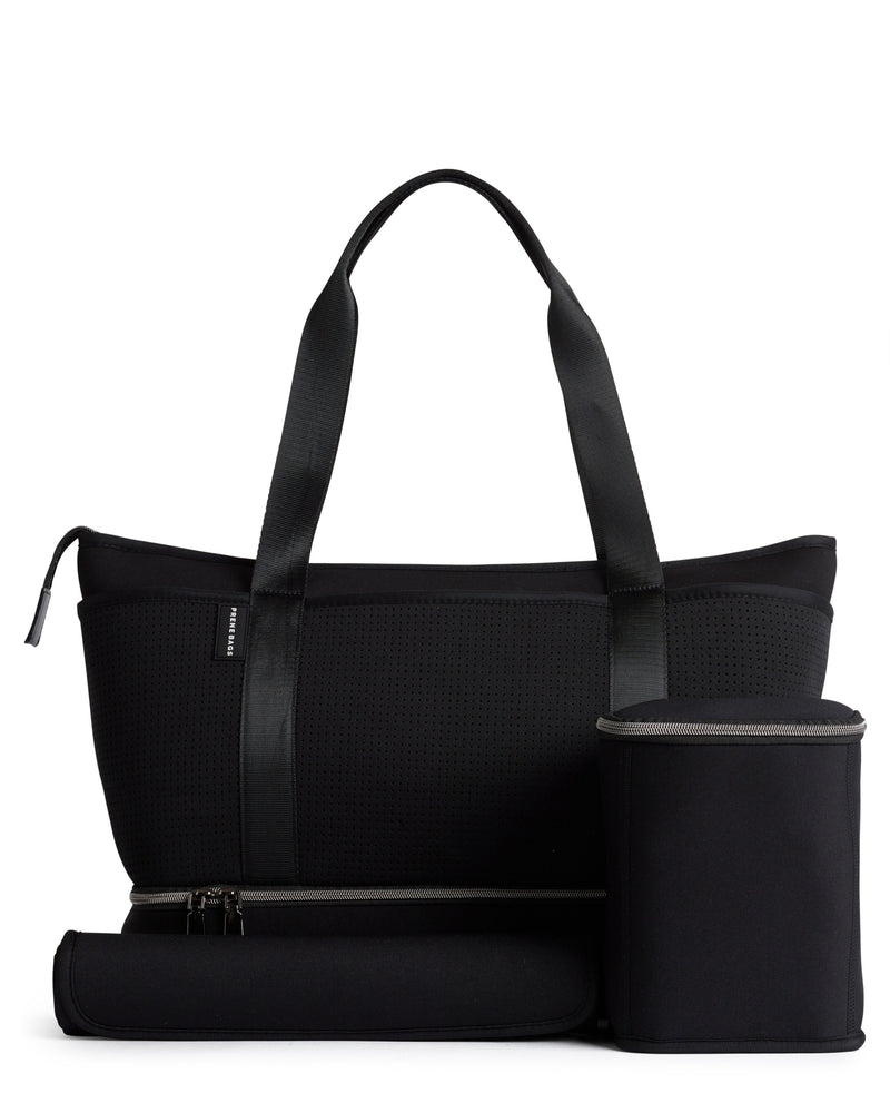 The Sunday Bag (BLACK) Neoprene Tote / Baby / Travel Bag