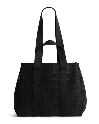 The Bam Bam Bag (BLACK CROC) Neoprene Crossbody / Hand Bag