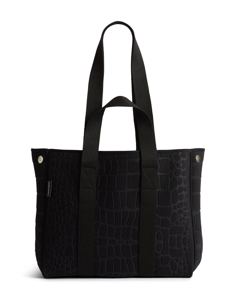 The Wild Gigi Bag (BLACK CROC) Neoprene Tote Bag