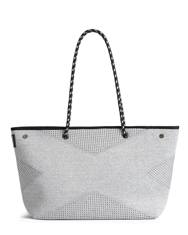 The X Bag (LIGHT GREY MARLE) Neoprene Tote Bag