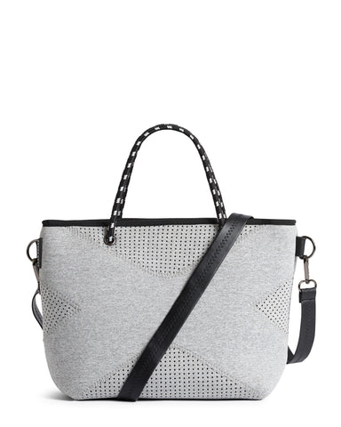 The Pebbles Bag (BLACK CROC) Neoprene Crossbody / Hand Bag