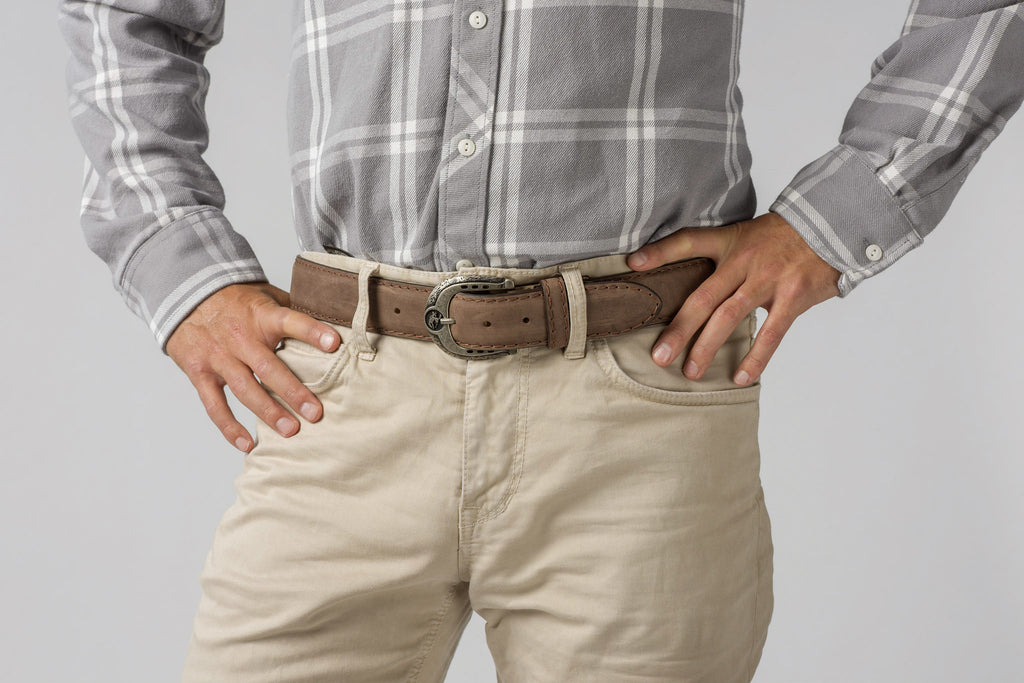Brown Cow Skin Belt for Men