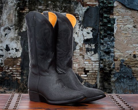 ALVIES Men's <br>Black Stingray Boots