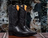 ALVIES Men's<br> Black Teju Lizard Boots