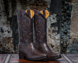 ALVIES Men's <br>Chocolate Python Boots