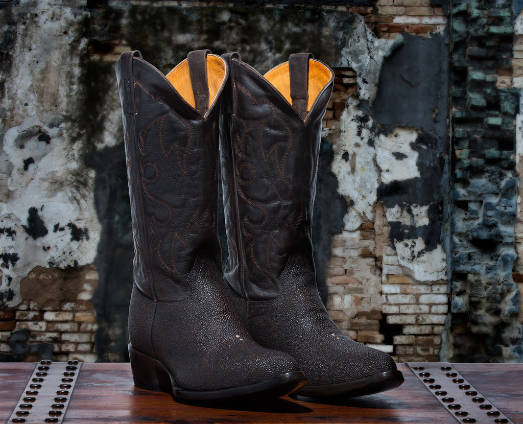 Rickshaw Men's <br>Dark Brown Stingray Boots