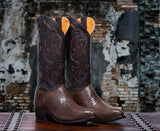 Rickshaw Men's <br>Chocolate Teju Lizard Boots