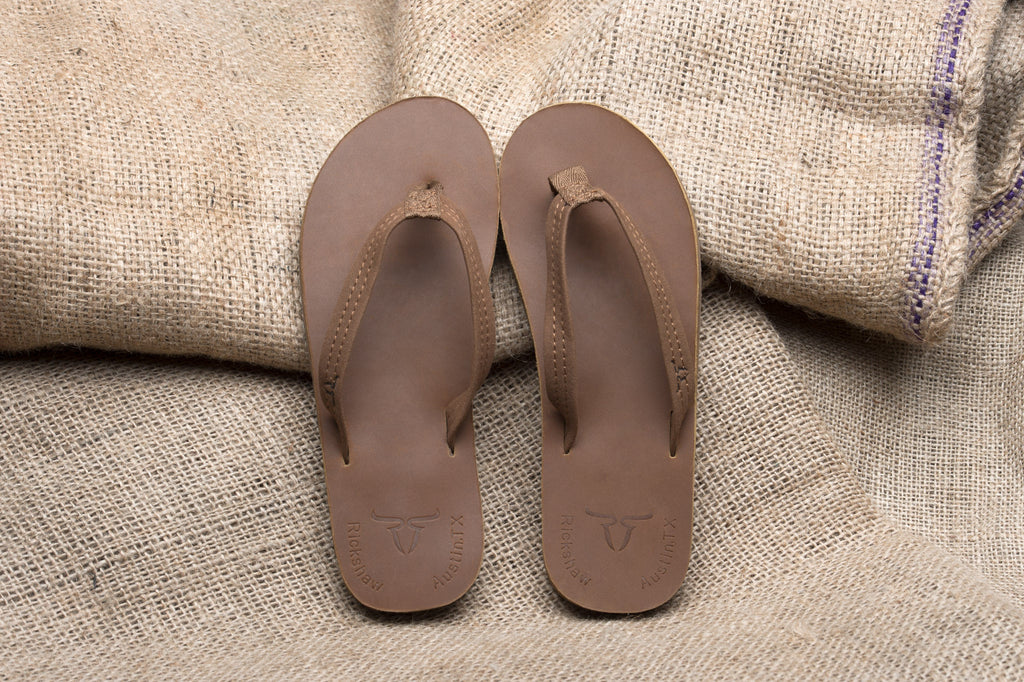 ALVIES Women's <br> Light Brown Flip-Flops