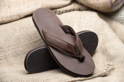 ALVIES Men's<br>Original Dark Brown Flip-Flops