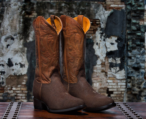 Rickshaw Men's <br>Brown Rust Stingray Boots