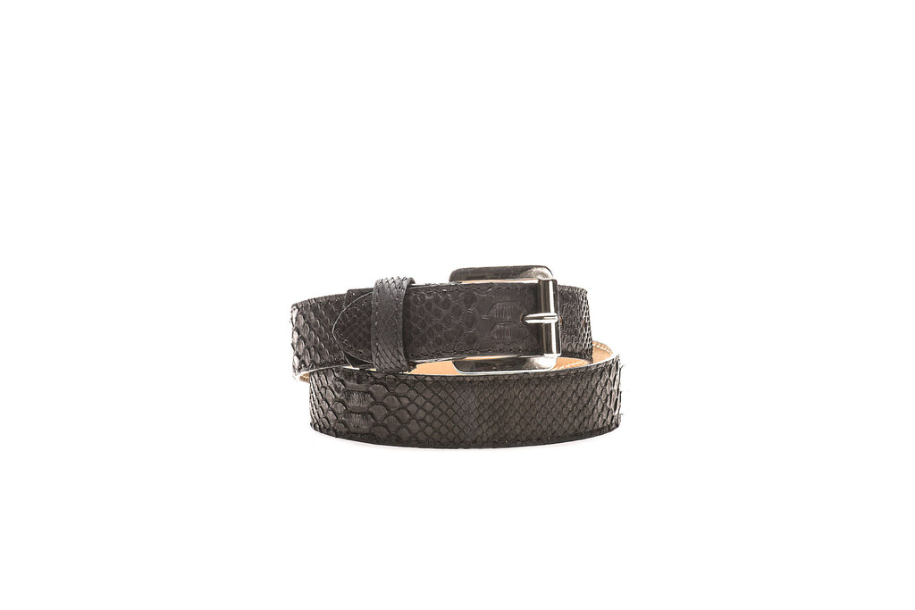 Black Python Men's Belt