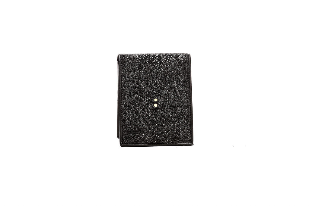 Jet Black Stingray Full Size Wallet
