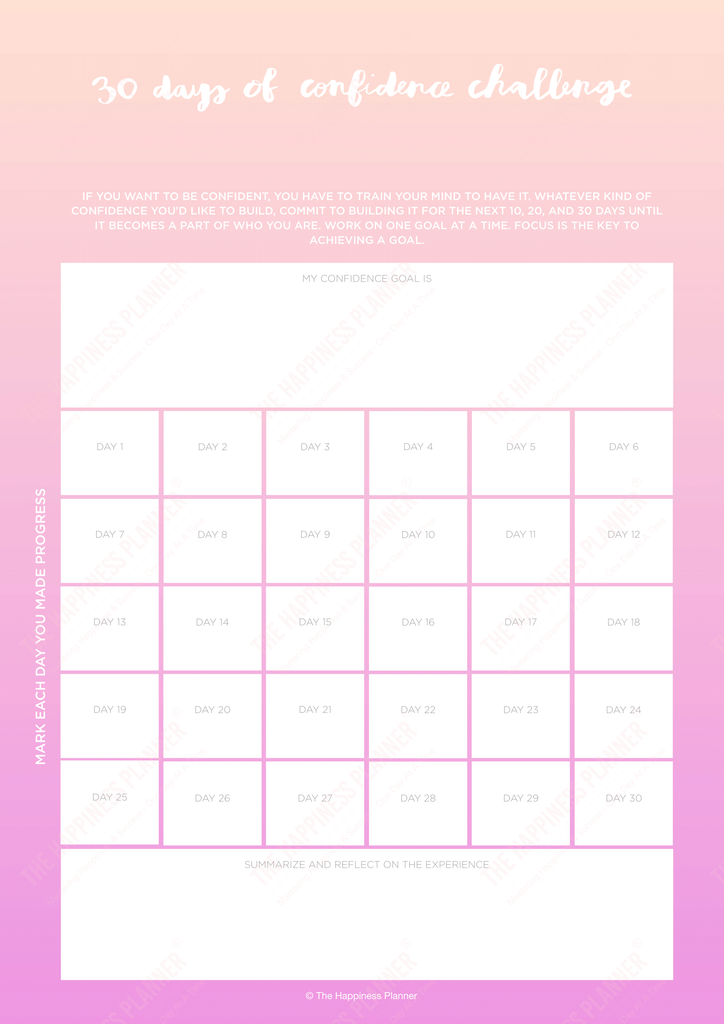 confidence printable worksheet