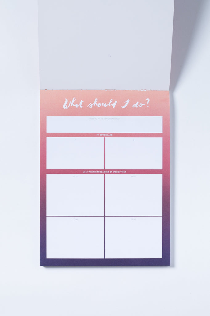 """What Should I Do"" Notepad"