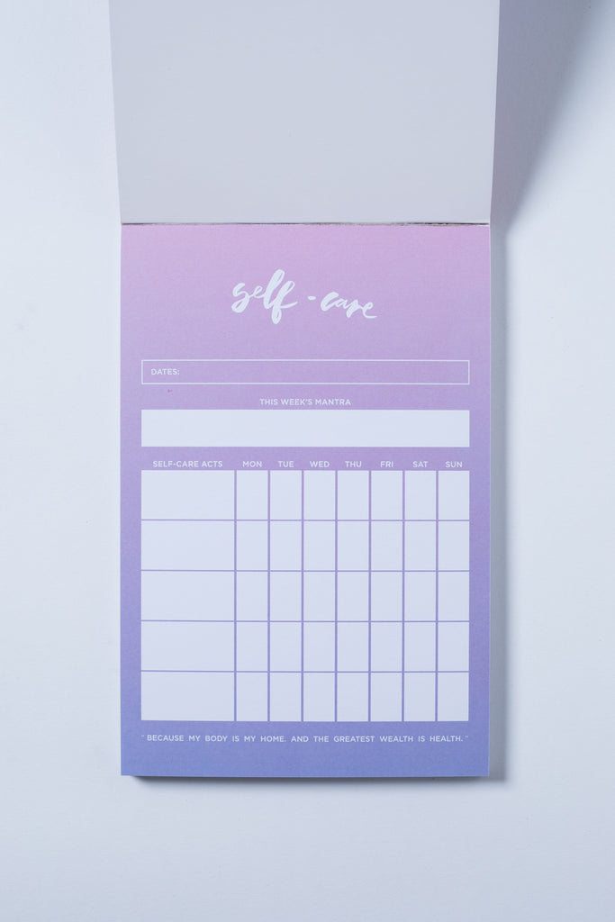 """Self-Care"" Notepad"