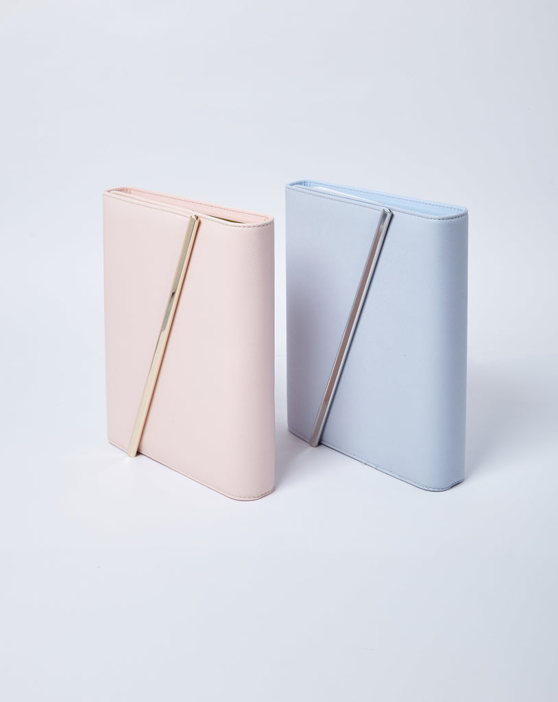 Leather Binder | Pink & Blue
