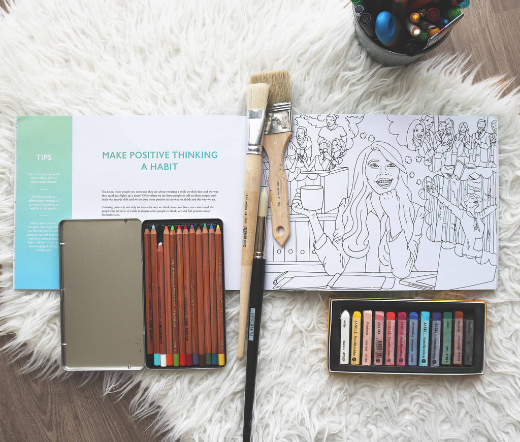 Colouring Book: The Adventures of Living (2for1)
