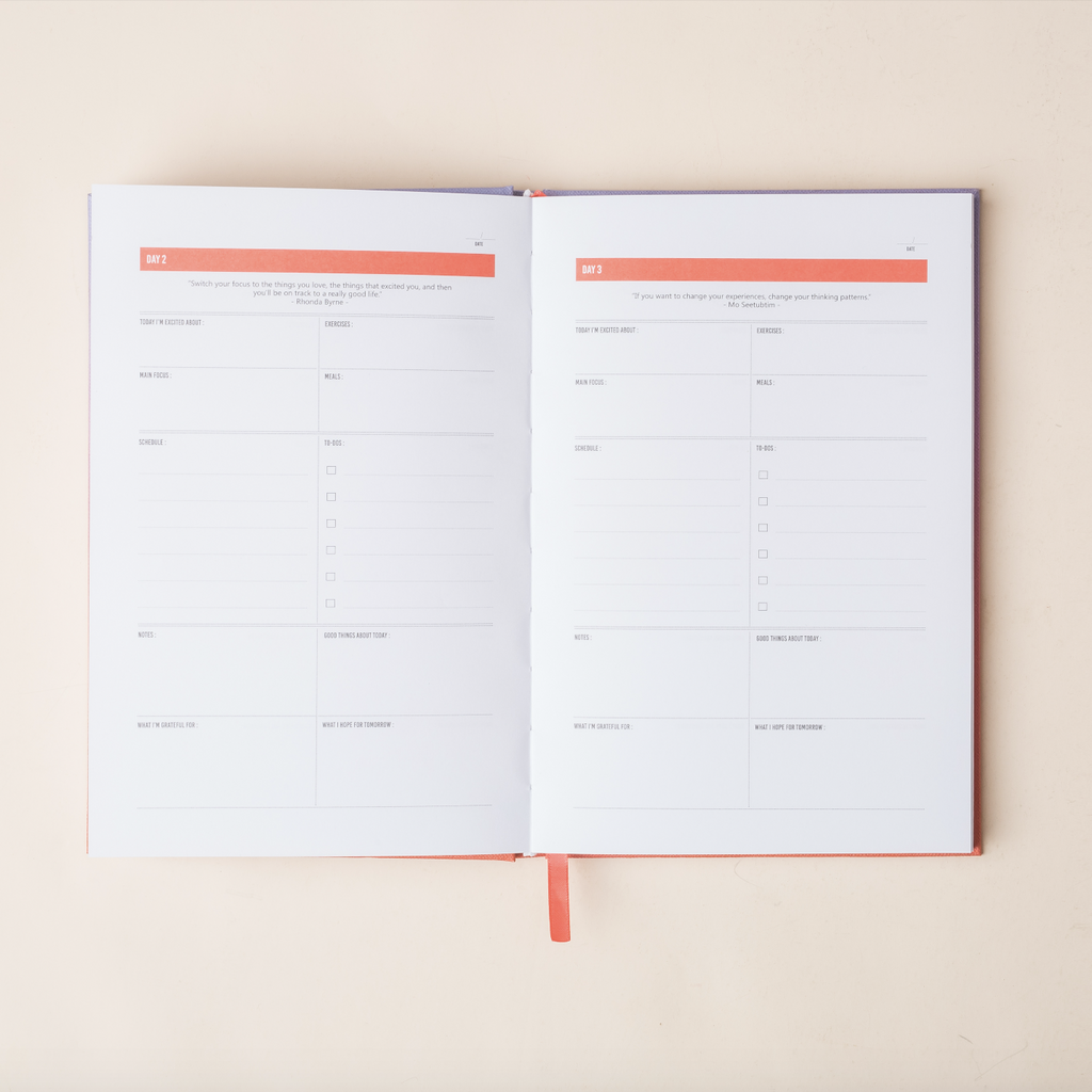 The 100-Day Planner | Lavender & Coral