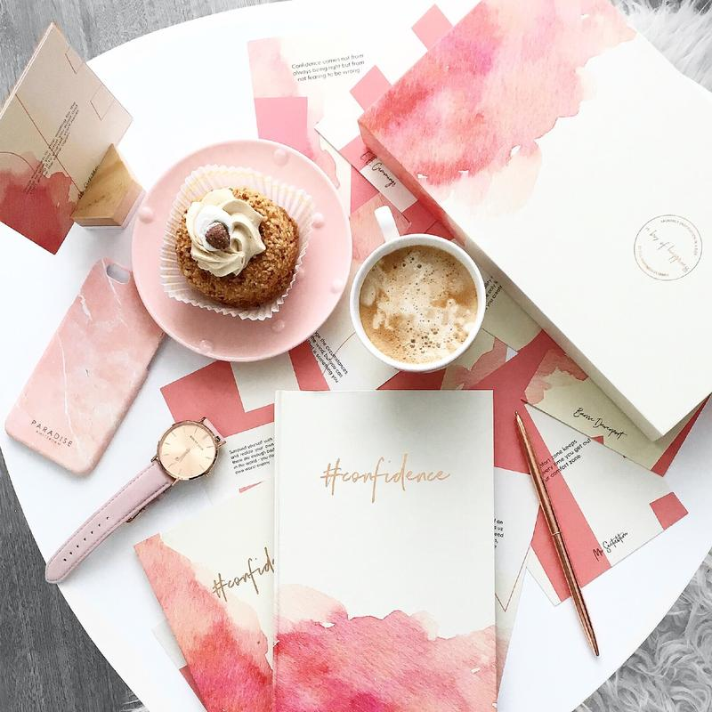 Leather binder happiness planner rose gold