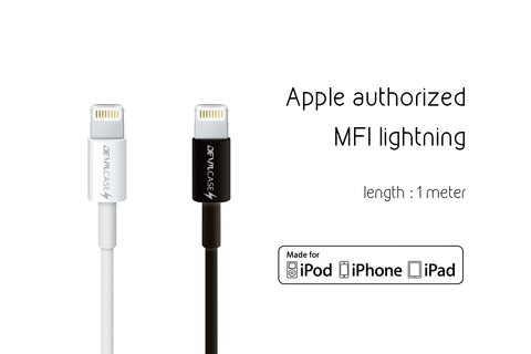 DevilCase APPLE Charging Cable (Apple Authorized) with Mfi C48 Connect - 100 cm