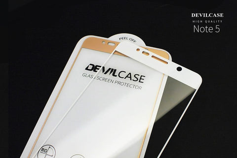 brand new 98558 3233c DevilCase FULL Glass Screen Protector for SAMSUNG Note 5