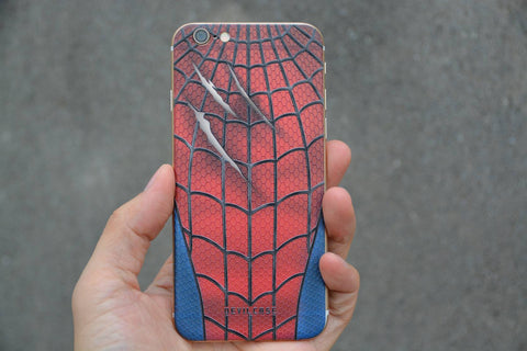 APPLE iPhone 6 | 6s Back Cover Skin - SPIDER WEB WITH SCRATCH