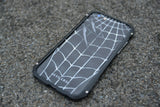 SAMSUNG Note 4 Back Cover Skin - SPIDER WEB WITH SCRATCH