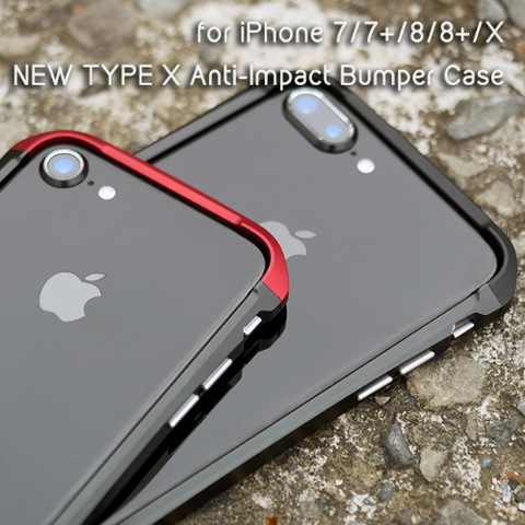 APPLE iPhone X TYPE X Anti-Impact Aluminum + Plastic Bumper Case