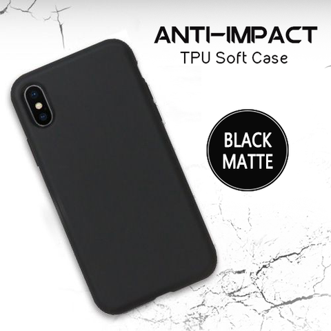 DevilCase Anti-Impact TPU Case - Apple iPhone X (PLAIN MATTE BLACK)