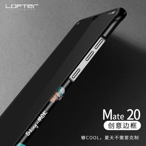 LOFTER | Aluminum Bumper Case with Silicone Frame Cover for Huawei Mate 20 Pro