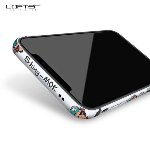 LOFTER | Mok & Bob Aluminum Bumper Case with Silicone Frame Cover for iPhone XS Max