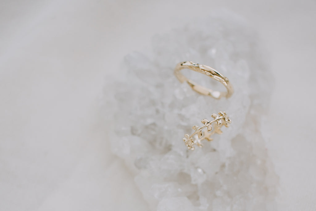 Bespoke 18k Gold Wedding Rings for G + S