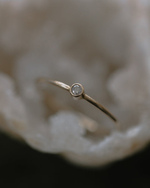 baby rustic diamond ring