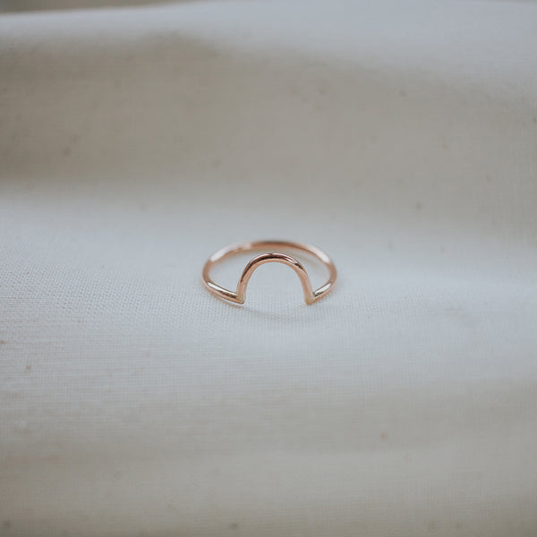 endear ring, rose gold