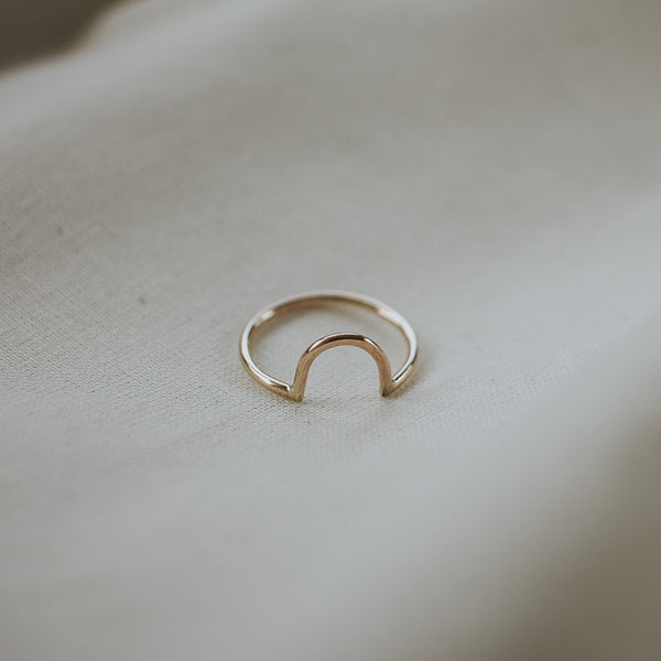 endear ring, yellow gold