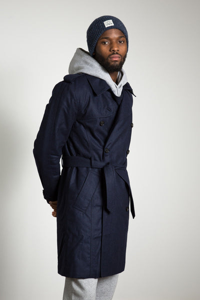 Wool Trench, navy