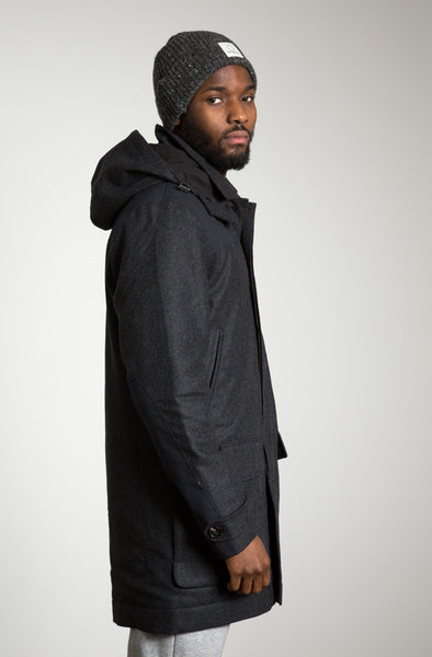 Wool Parka, charcoal