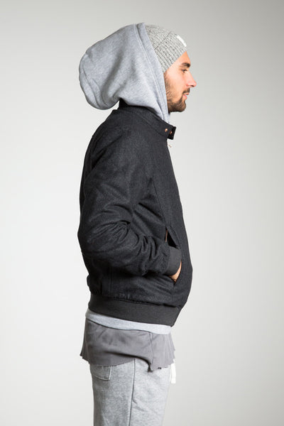 Loden Bomber Jacket charcoal