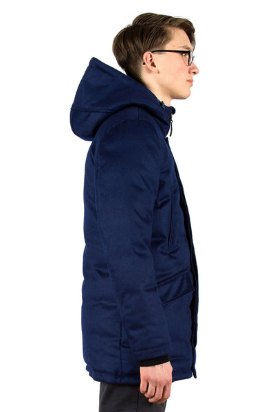 Loden Down Parka Airforce Blue - side