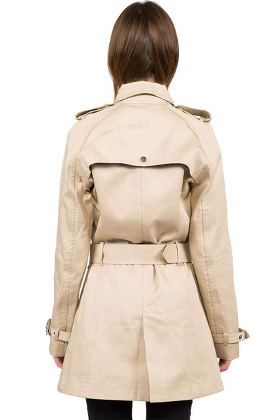 Rainproof Trench camel - back